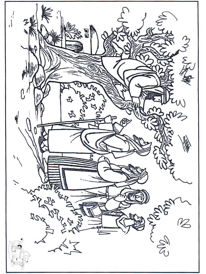 Zacchaeus Coloring Pages Free To Print 2