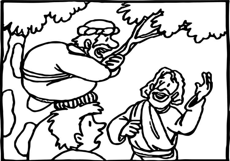 Zacchaeus Coloring Pages Free To Print
