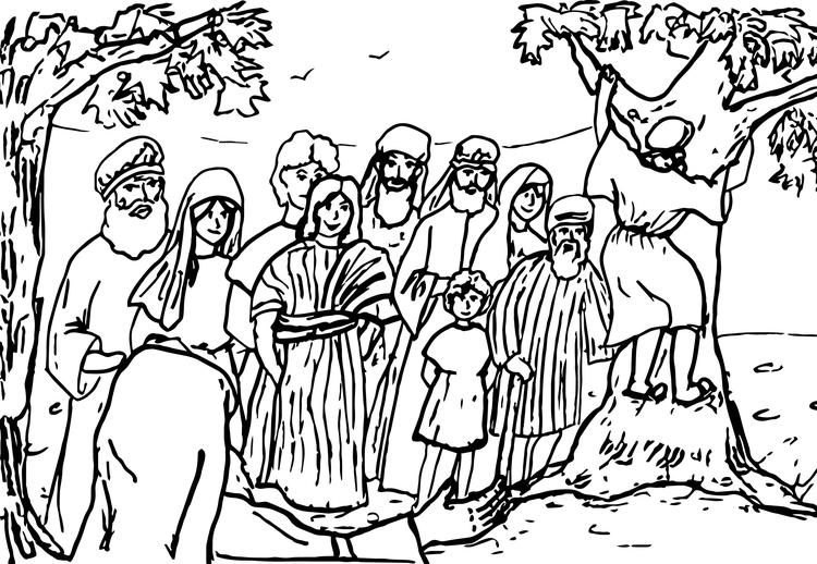Zacchaeus Coloring Pages Printable 2