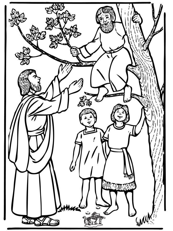 Zacchaeus Coloring Pages To Print