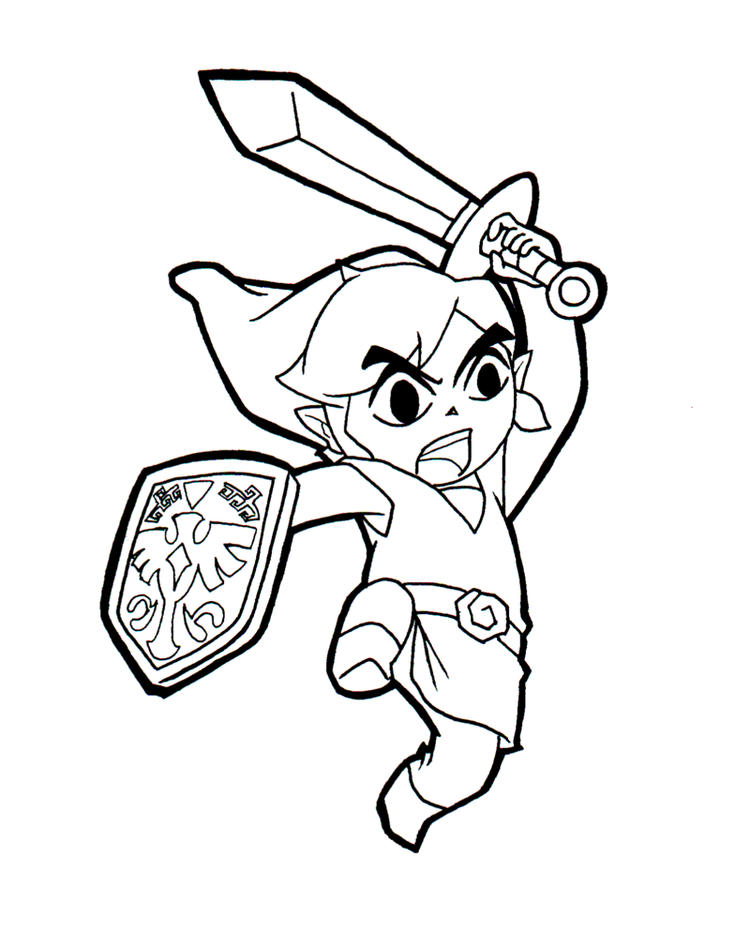 6000 Printable Coloring Pages Link Zelda Download Free Images