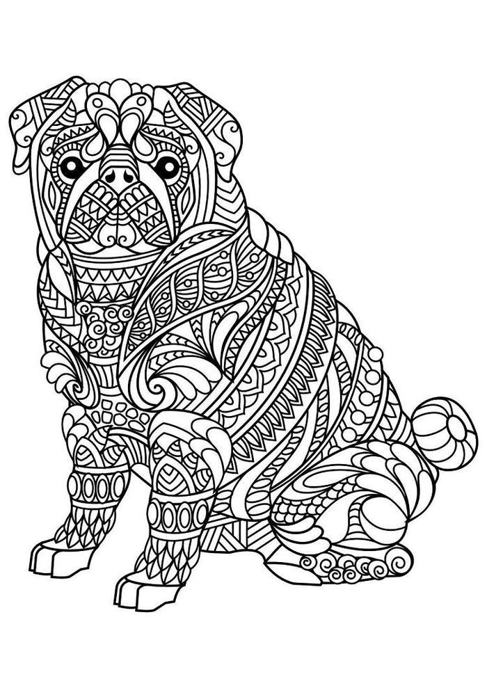Zentangle Dog Coloring Pages