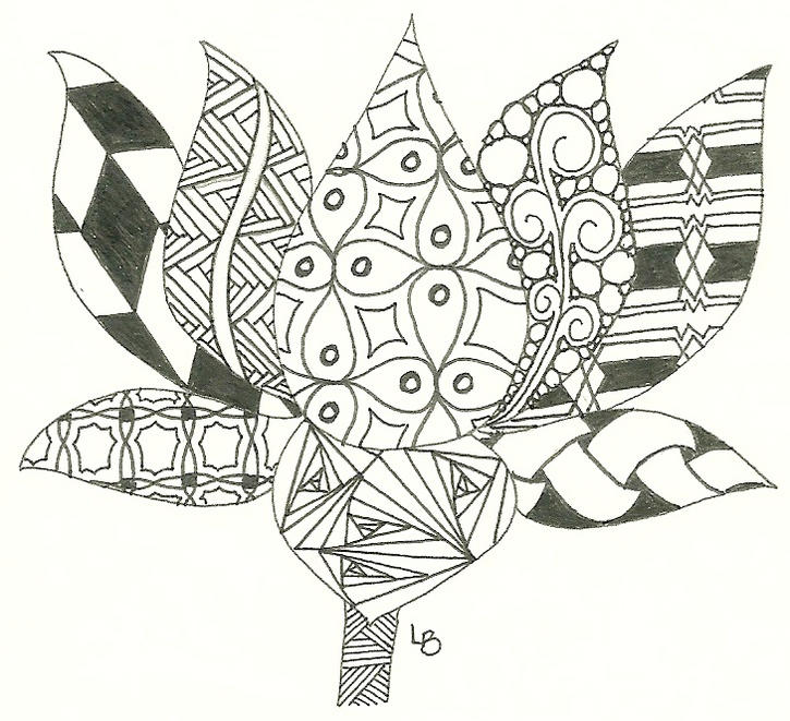 Zentangle Flower Coloring Book To Print