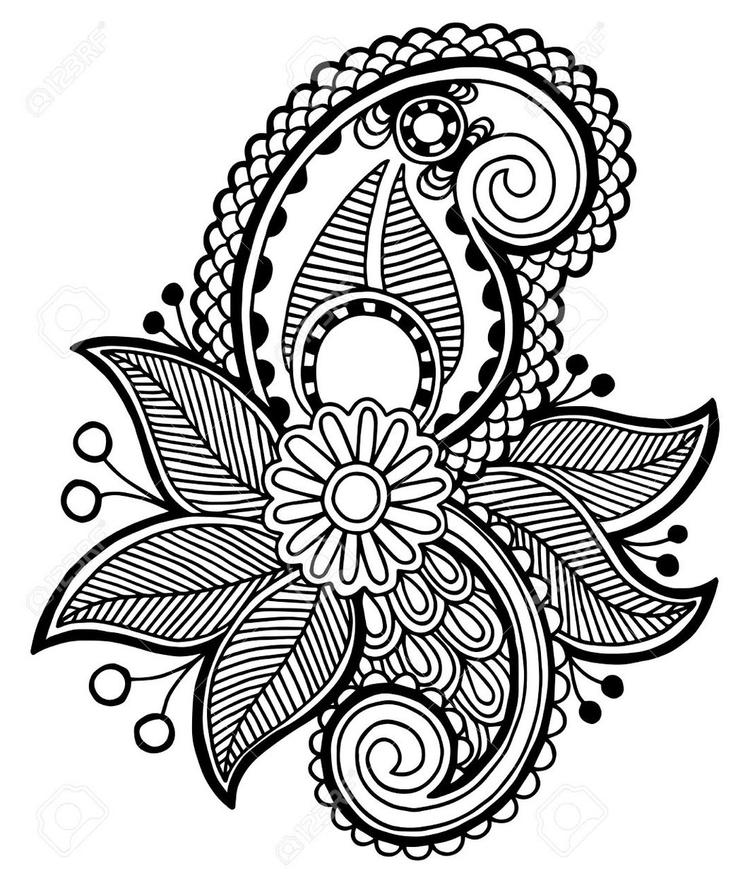 Zentangle Flower Print Out Drawing