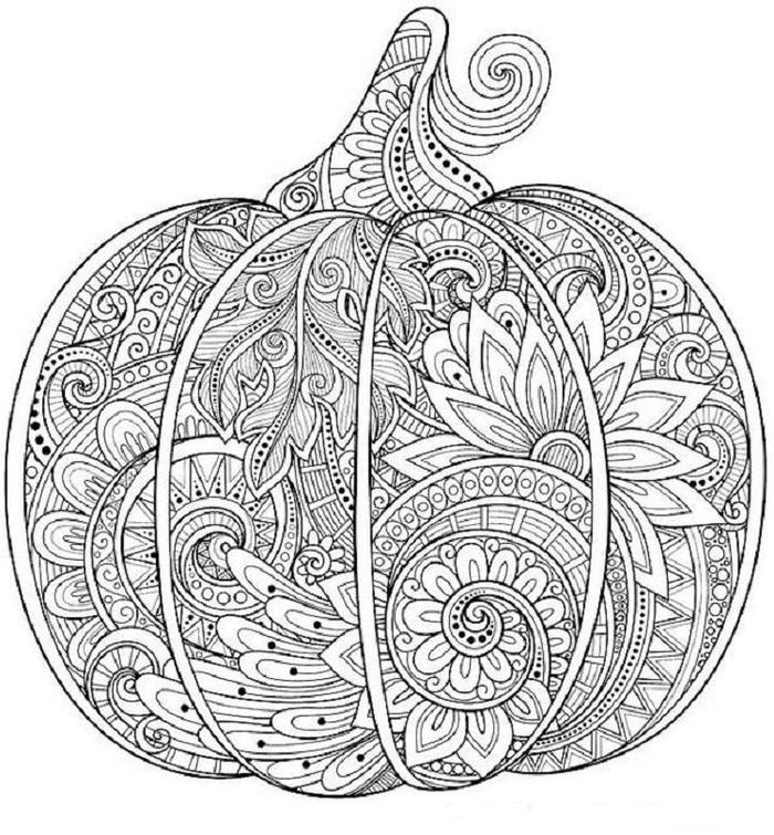 Zentangle Pumpkins Coloring Pages