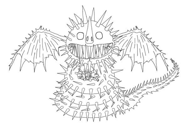Zippleback From How To Train Your Dragon Coloring Pages