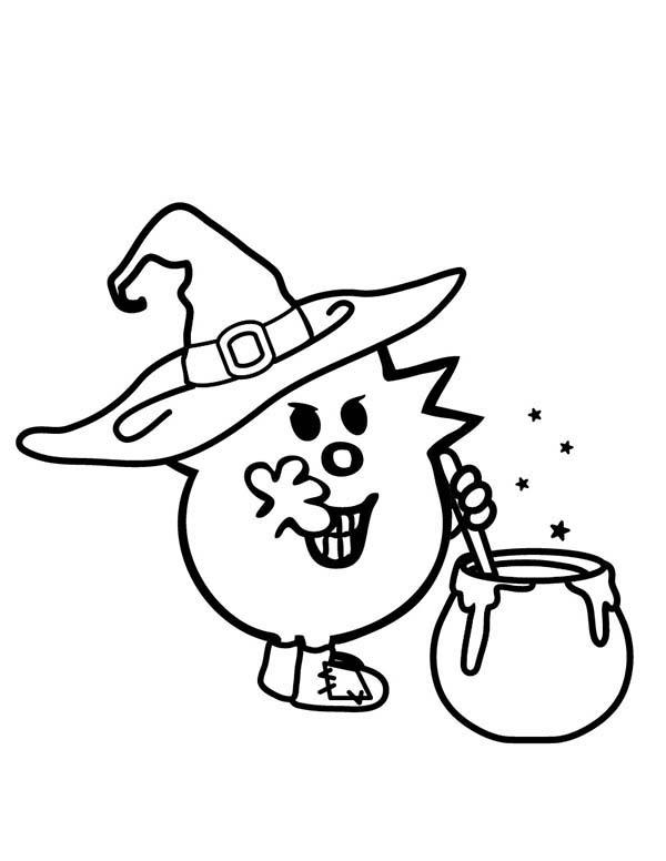 Zombie And Witches Magic Potion In Mr Men And Little Miss Coloring Pages