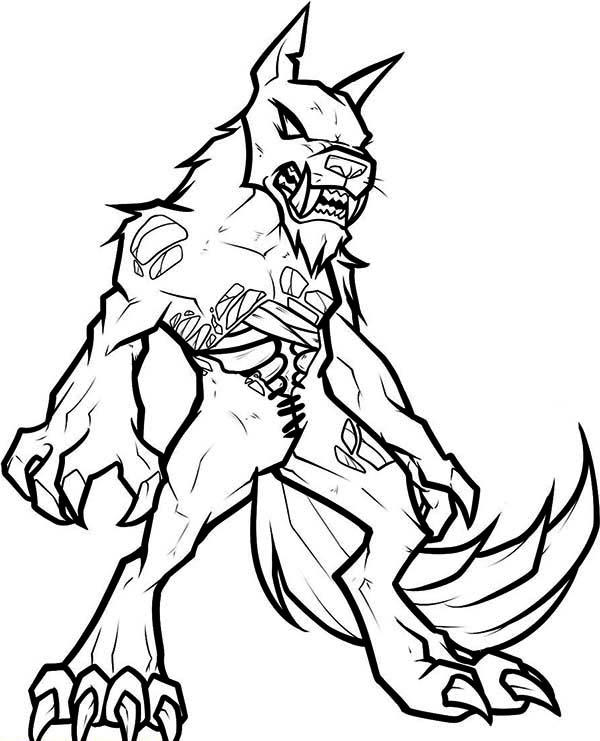 Zombie Coloring Pages Werewolf