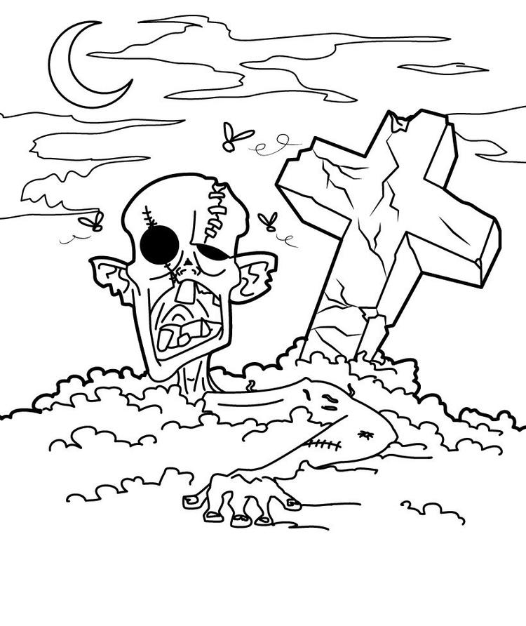 Zombie Free Halloween Coloring Pages Free