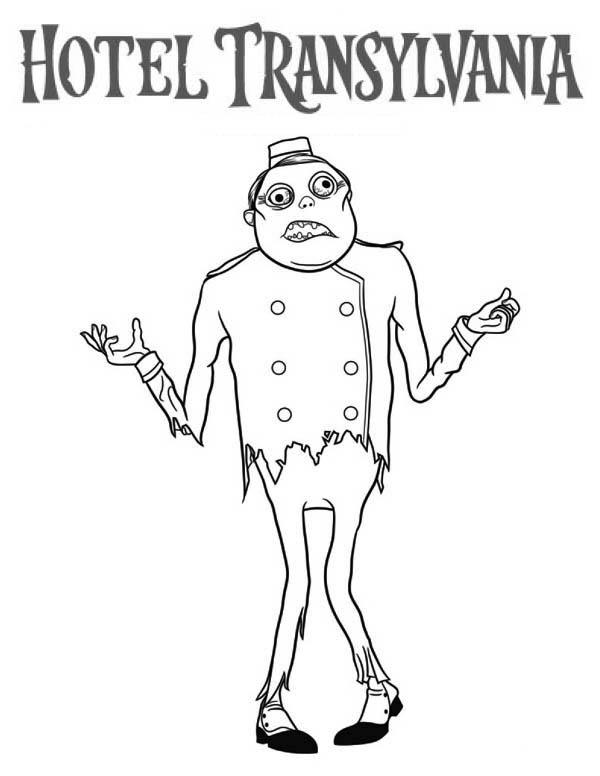 Zombie From Hotel Transylvania Coloring Pages
