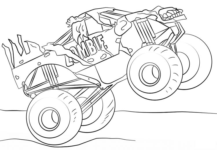 Zombie Monster Truck Coloring Pages