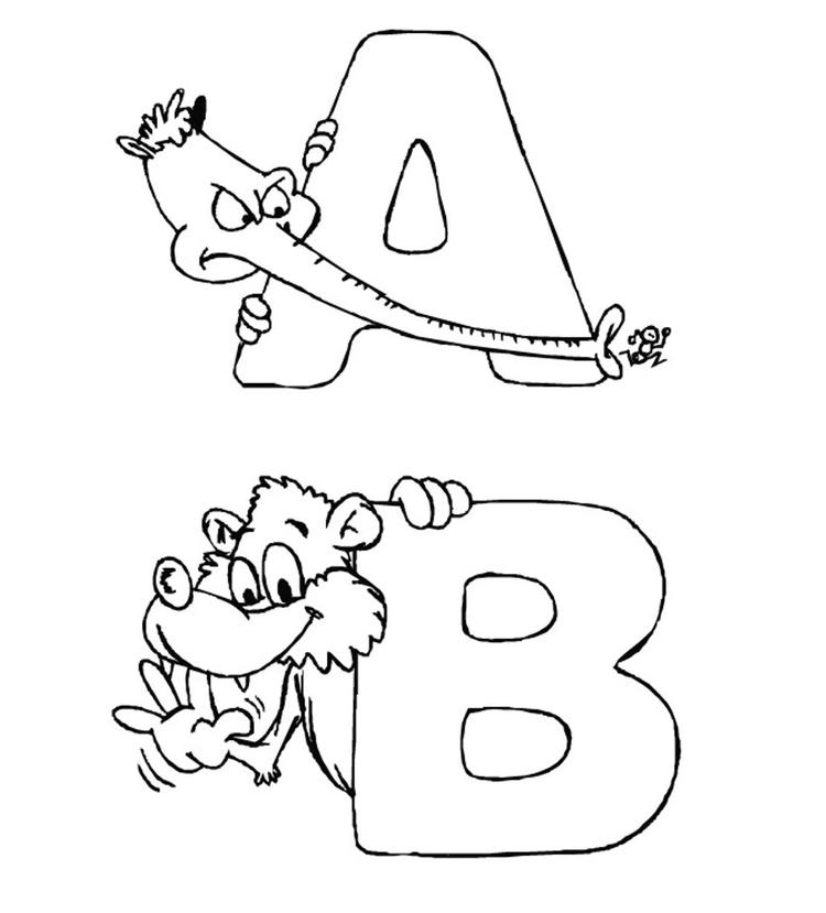 Zoo Alphabet Coloring Pages Printable