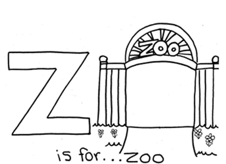 Zoo Alphabet Coloring Pages