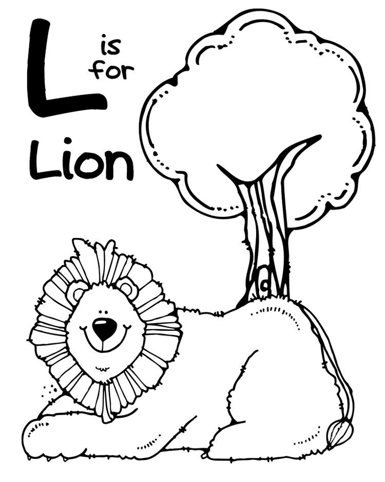 Zoo Animal Coloring Pages L For Lion