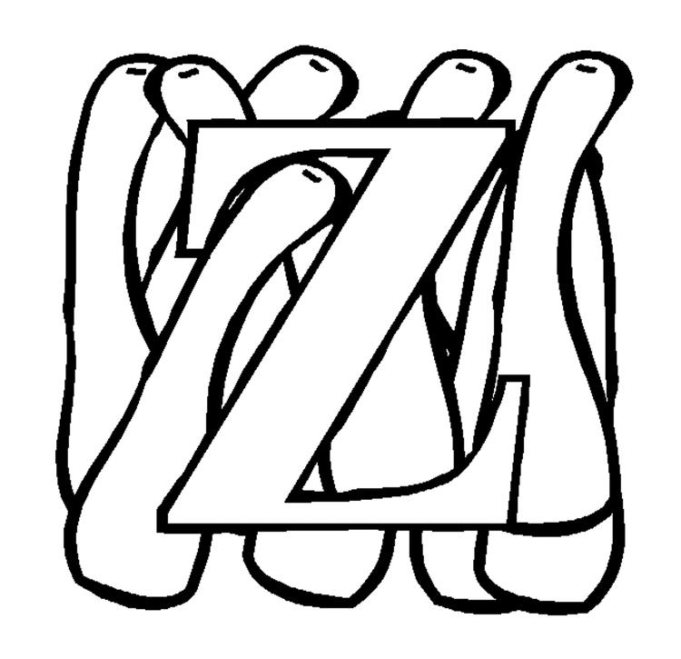 Zucchini Alphabet Coloring Pages
